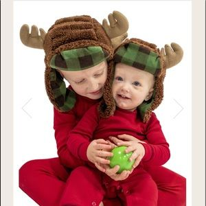 Boys Lazy One Fleece moose hat size M